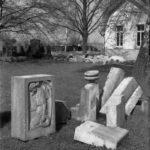 Bau der Erweiterung, mit Trauerhalle rechts