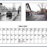 März Kalender 2010